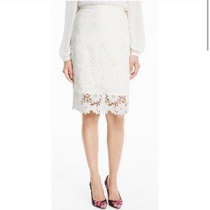 🆕🎉 White House Black Market White Floral Skirt